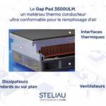 Le Gap Pad 3500ULM, un matériau thermo conducteur ultra conformable pour le remplissage d'air
