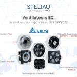 Delta, représenté en France par Steliau Technology, lance des ventilateurs EC efficaces et robustes.