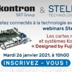 En partenariat avec le fabricant Kontron, Steliau Technology propose un webinar sur les cartes mères et systèmes « Designed by Fujitsu »