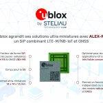 U-blox intègre ses technologies GNSS et cellulaire bas débit dans un unique module ultra miniature 14 x 14 mm
